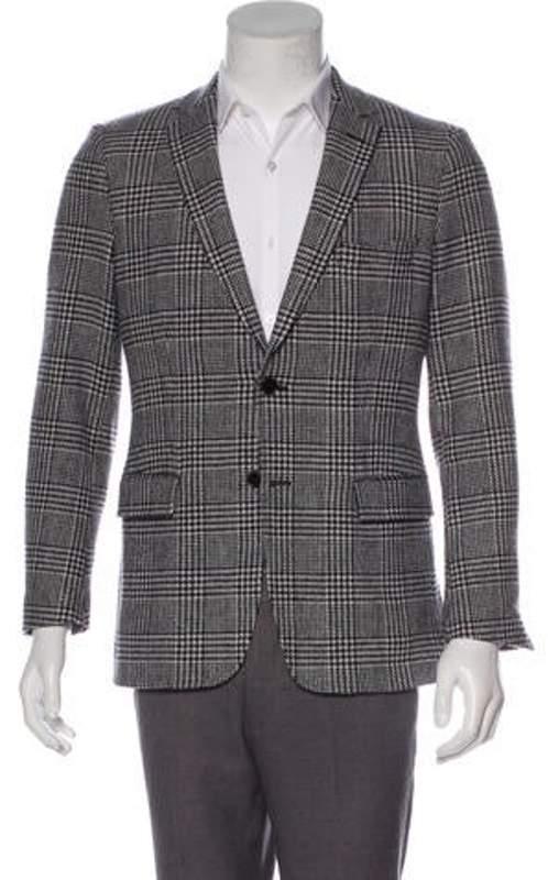 Gant Wool-Blend Glen Plaid Blazer white Wool-Blend Glen Plaid Blazer