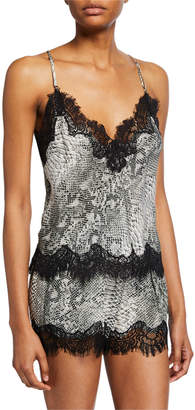 Gold Hawk Animal-Print Cropped Camisole