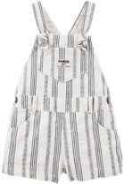 Osh Kosh Baby Girl Striped Linen-Blend Shortalls
