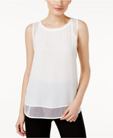 Cable & Gauge Mesh-Trim Tank Top