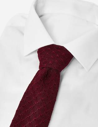 Marks and Spencer Skinny Textured Knitted Square End Tie