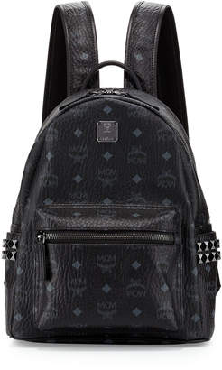 MCM Stark Visetos Small Side-Stud Backpack, Pink