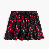 J.Crew Girls' pull-on skirt in cherry print