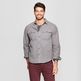 Men's Long Sleeve Pocket Flannel Button-Down Shirt - Goodfellow & Co