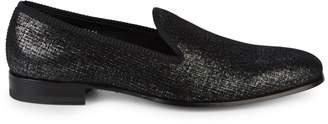 Mezlan Belona Silvertone Brush-Painted Suede Loafers