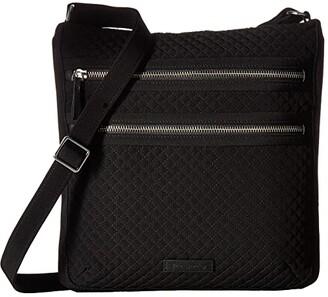 Vera Bradley Triple Zip Hipster (Classic Black) Handbags
