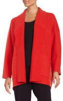 Eileen Fisher Petite Open-Front Merino Wool Cardigan