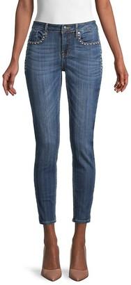 Vigoss Studded Ankle Skinny Jeans