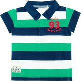 JoJo Maman Bebe Rugby Shirt (Baby) - Green Navy Stripe-18-24 Months