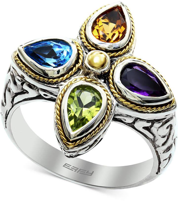 Effy Multi-Gemstone (1-5/8 ct. t.w.) Ring in Sterling Silver & 18k Gold