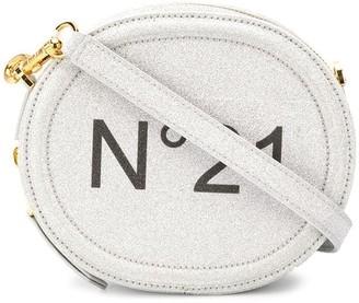 No.21 Glitter Logo Crossbody Bag