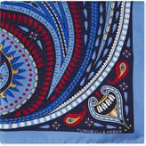 Turnbull & Asser Paisley-circle silk pocket square