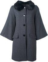 Steffen Schraut flared sleeve coat - women - Polyester/Spandex/Elastane/Viscose/Wool - 38
