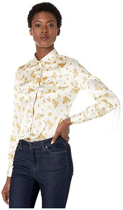 Rock and Roll Cowgirl Long Sleeve Snap B4S3110 (Natural) Women's Clothing