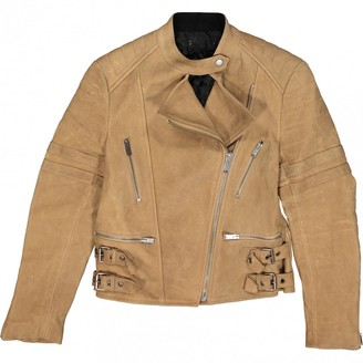 Celine Camel Leather Jackets