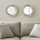 Crate & Barrel Clarendon Small Round Silver Wall Mirror, Set of 2