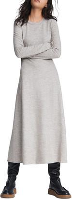 Rag & Bone Yan Wool Long-Sleeve Midi Dress