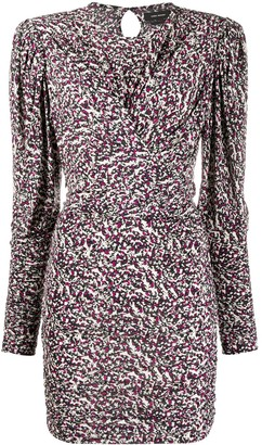 Isabel Marant Abstract-Print Long-Sleeve Dress