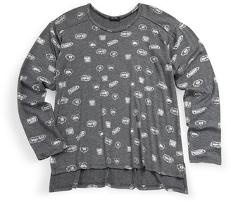 Terez Girl's Pullover Graphic-Print Tee