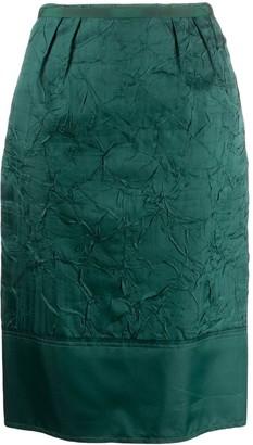 No.21 Crinkled Effect Pencil Skirt