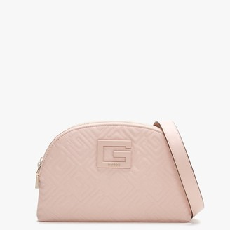 GUESS Janay Rosewood Quilted Cross-Body Bag