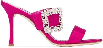 Manolo Blahnik Gable Jewel 90 double strap sandals