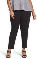 Eileen Fisher Plus Size Women's Crop Stretch Knit Pants