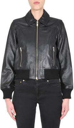 MICHAEL Michael Kors Leather Bomber