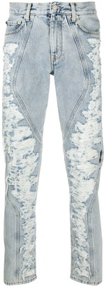 Off-White Distressed Panel Jeans