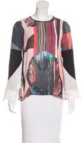 Clover Canyon Abstract Print Long Sleeve Top w/ Tags