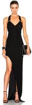 Thierry Mugler Side Slit Maxi Dress