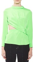 Women's Topshop Boutique Twist Cutout Silk Top