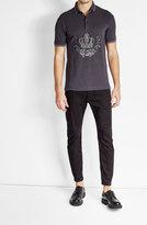 Dolce & Gabbana Embroidered Cotton Polo Shirt