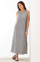 J. Jill Long Striped Linen Dress