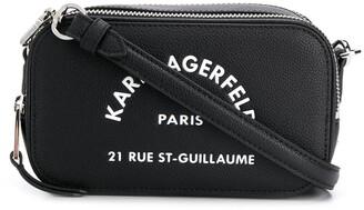 Karl Lagerfeld Paris Address logo crossbody bag