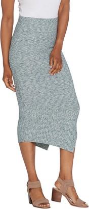 G.I.L.I. Got It Love It G.I.L.I. Regular Asymmetrical Hem Rib Knit Skirt