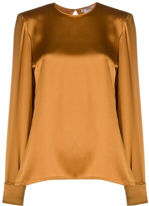 Yves Saint Laurent Pre-Owned Silk Keyhole Blouse