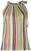 Missoni striped knitted top - women - Rayon/Viscose/Polyester - 38