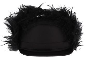 Prada Faux-fur Flap Cap