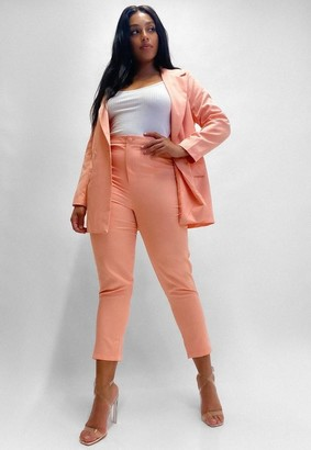 Missguided Plus Size Peach Basic Cigarette Pants