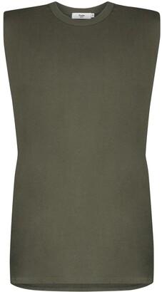 Frankie Shop Tina padded shoulder T-shirt dress