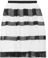 MICHAEL Michael Kors Paneled Crocheted Lace Skirt