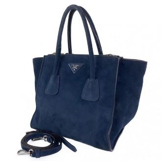 Prada Navy Suede Handbags