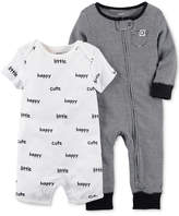 Carter's 2-Pc. Cotton Romper & Coverall Set, Baby Boys