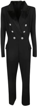 Balmain Double Breasted Back Zipped Jumpsuit
