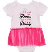 Baby Starters White & Pink 'Prince Daddy' Tutu Bodysuit - Infant