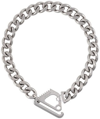 Off-White Off White Mecanic pendant link chain necklace