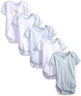 Burt's Bees Baby Baby-Boys Organic Set Of 5 Short Sleeve Bodysuits