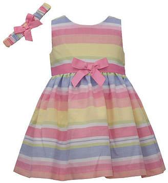 Bonnie Jean Multicolor Stripe - Baby Girls Sleeveless Striped A-Line Dress