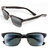 Maui Jim Men's 'Kawika - Polarizedplus2' 54Mm Sunglasses - Black Gloss/ Pewter